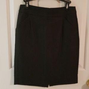 J. Crew Black Pencil Skirt